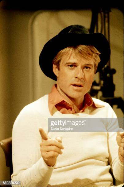 View of American actor Robert Redford on the set of the film 'The Way We Were' 1973