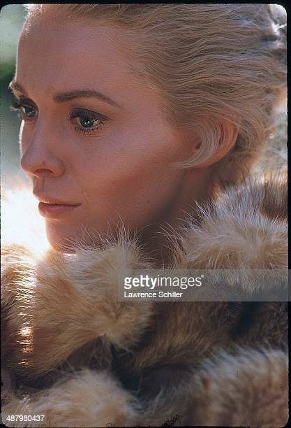 View of American actress Jean Seberg in a scene from the film 'Paint Your Wagon' , Baker City, Oregon, 1968.