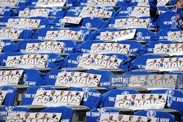 A view of American Airlines Center before the Los Angeles Lakers take on the Dallas Mavericks in Game Three of the Western Conference Semifinals in...