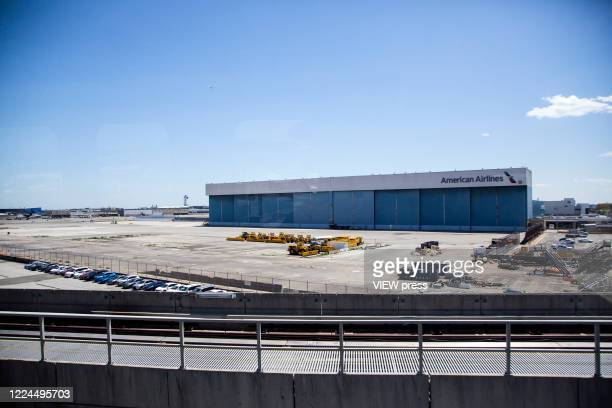 View of American Airlines warehouses at John F Kennedy International Airport on May 12 2020 in New York