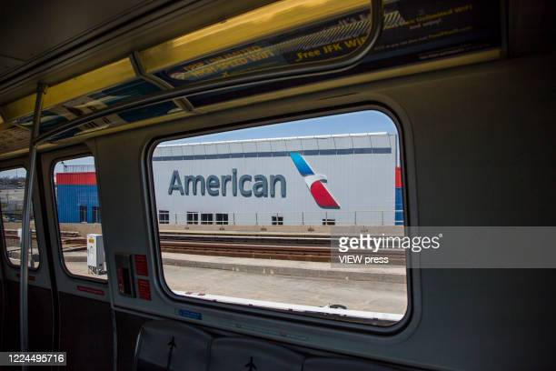 View of American Airlines warehouses at John F Kennedy International Airport on May 12 2020 in New York NY