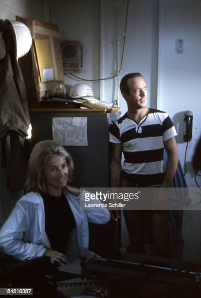 View of American aquanaut Scott Carpenter and his wife Rene together after his mission aboard Sealab II off the coast of La Jolla California late...