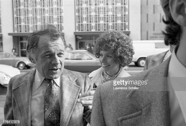View of American attorney F Lee Bailey and his wife Lynda Hart among unidentified others San Francisco California 1976 At the time Bailey was serving...