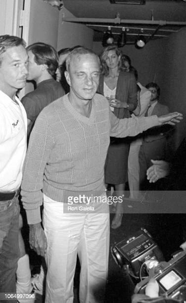 View of American attorney Roy Cohn as he attends a book party for 'Skyrocket' at Bonds International Casino, New York, New York, July 1, 1980.