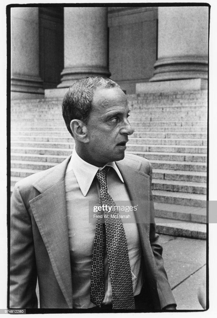 Roy Cohn Outside NY County Courthouse : News Photo