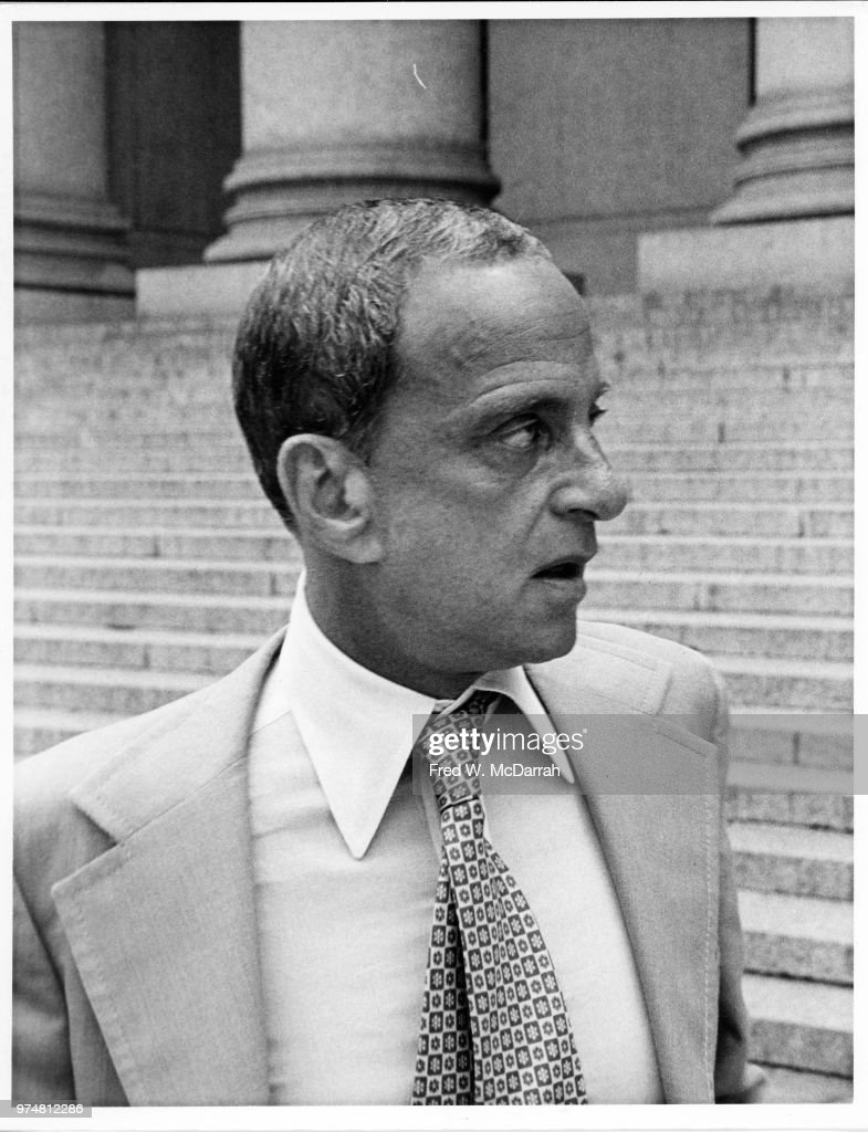 Roy Cohn Outside NY County Courthouse : News Photo