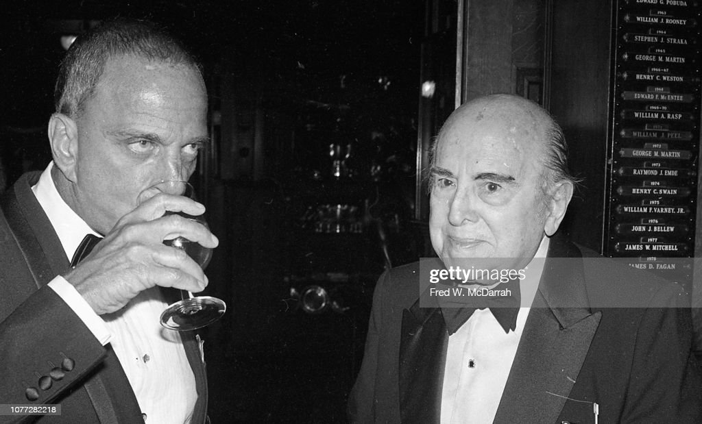 Roy Cohn & Guest At Birthday Party : News Photo
