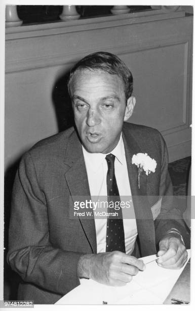 View of American attorney Roy Cohn at a book signing event New York New York March 16 1968