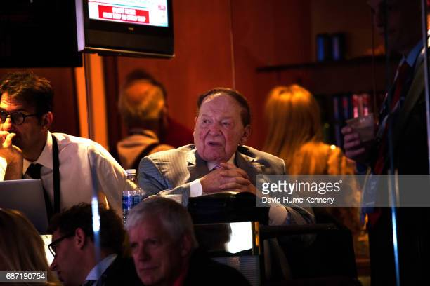 View of American businessman and investor Sheldon Adelson during the Republican National Convention at Quicken Loans Arena Cleveland Ohio July 21 2016