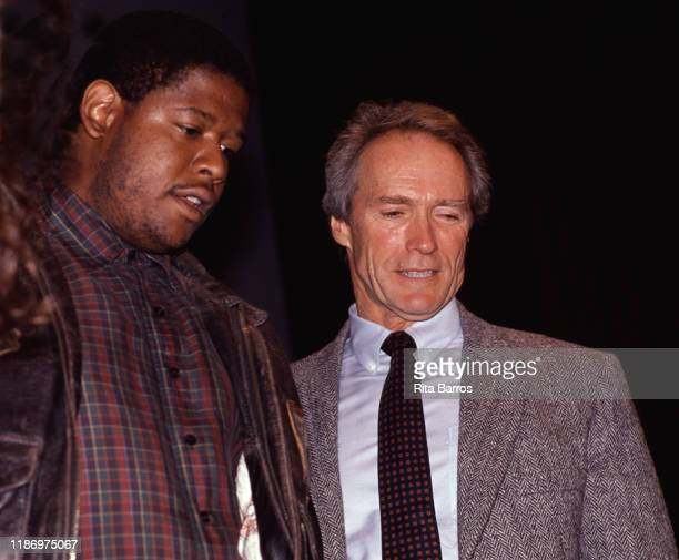 View of American film actor Forest Whitaker with director and actor Clint Eastwood during the New York Film Festival New York New York September 28...