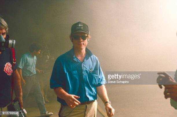 View of American film director Ron Howard on the set of his film 'Backdraft' Los Angeles California 1990