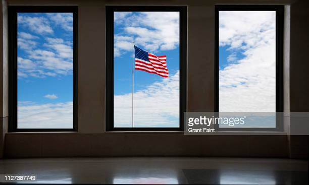 view of american flag. - number 3 stock pictures, royalty-free photos & images