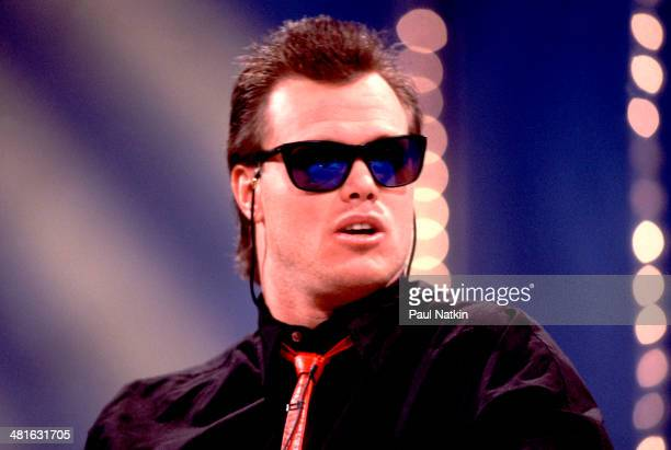 View of American football player Jim McMahon quarterback for the Chicago Bears in sunglasses Chicago Illinois 1987