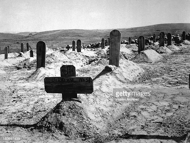 View of American graves in Cuba 1898 Scribners Collection
