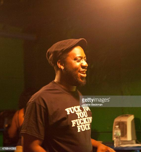 View of American jazz musician Robert Glasper backstage at an unidentified venue New York New York June 3 2013