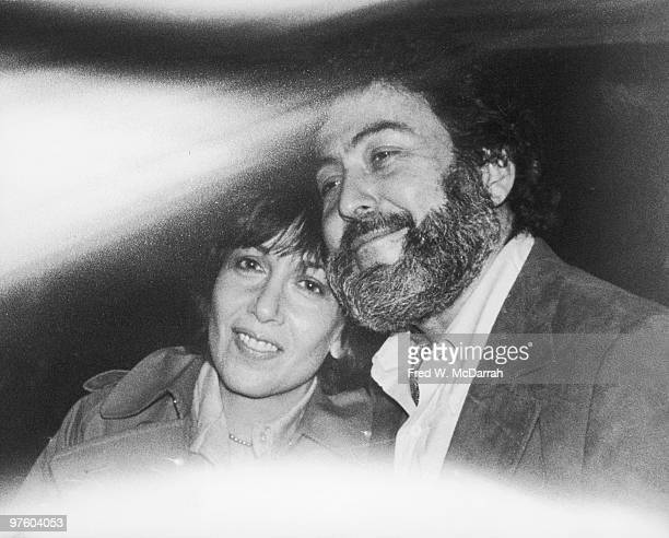 View of American journalist and music critic Nat Hentoff and his wife author Margot Hentoff as seen through the window of a car New York New York May...