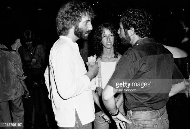 View of American musician Andrew Gold and actress comedian Laraine Newman at Greenwich Village's Village Gate nightclub New York July 27 1978 They...