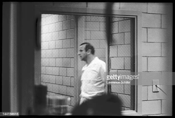 View of American nightclub owner Jack Ruby in an interrogation room in the Dallas Police Department building shortly after he fatally shot Lee Harvey...