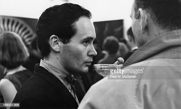View of American Pop artist Robert Indiana at a unspecified event New York New York October 29 1963