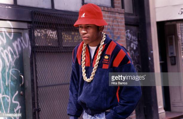 View of American rapper LL Cool J as he stands outdoors New York April 23 1990