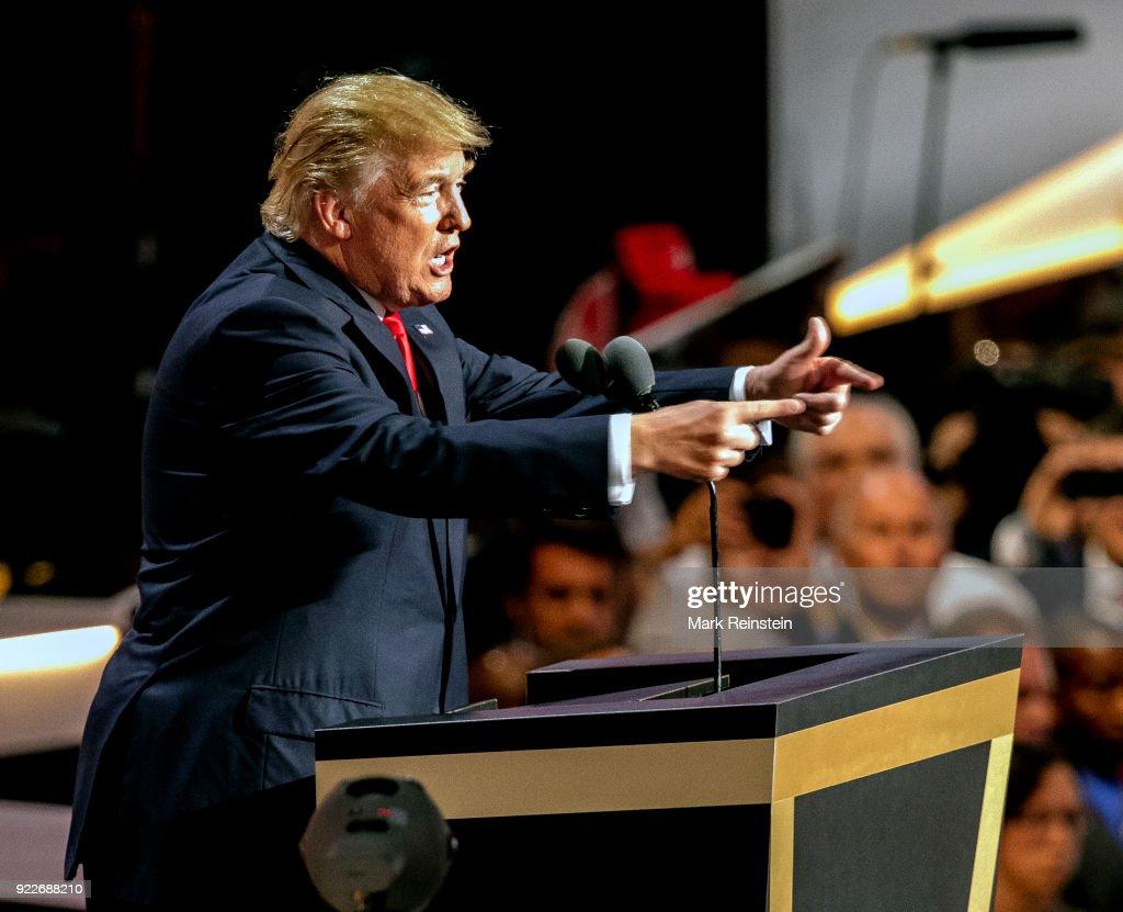 Donald Trump At RNC : News Photo