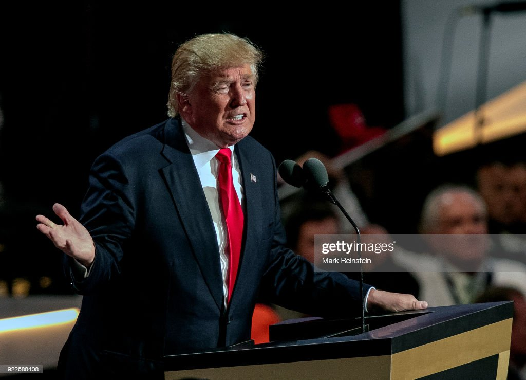 Donald Trump At RNC : News Photo