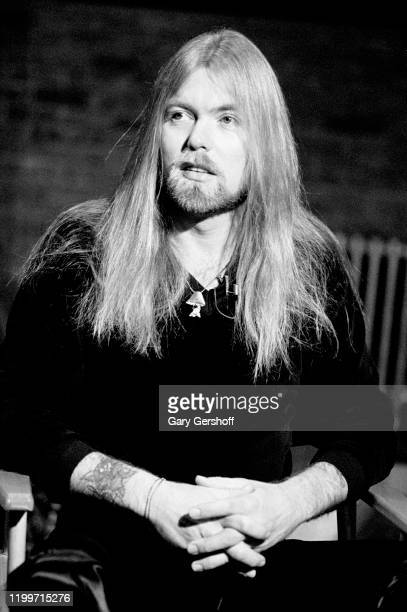 View of American Rock and Country musician Gregg Allman during an interview at MTV Studios, New York, New York, January 5, 1982.