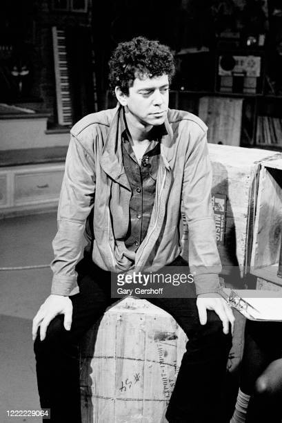 View of American Rock musician Lou Reed during an interview at MTV Studios, New York, New York, June 13, 1984.
