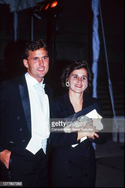 View of American siblings businessman Marvin Bush and author Dorothy Bush LeBlonde attend a Royal Gala Evening to Benefit the London City Ballet at...