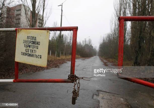 View of an abandoned city of Pripyat in Chernobyl, Ukraine, on 25 December, 2019. The Chernobyl disaster on the Chernobyl nuclear power plant...