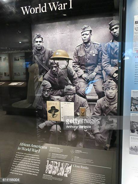 View of an 'African Americans in World War I' display at the National Museum of African American History and Culture Washington DC September 28 2016