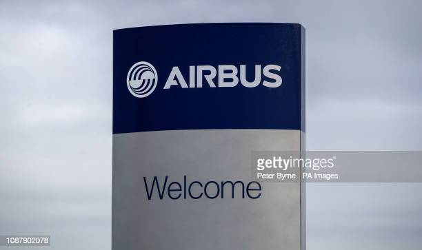 A view of an Airbus sign at the wing assembly factory in Broughton North Wales The head of Airbus has torn into the Government's handling of Brexit...