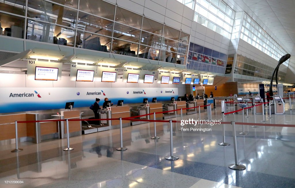 American Airlines To Cut A Third Of Its International Flights Amid Major Travel Slowdown Due To Coronavirus Outbreak : News Photo