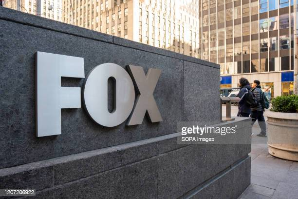 A view of an american conservative cable television news channel Fox News logo