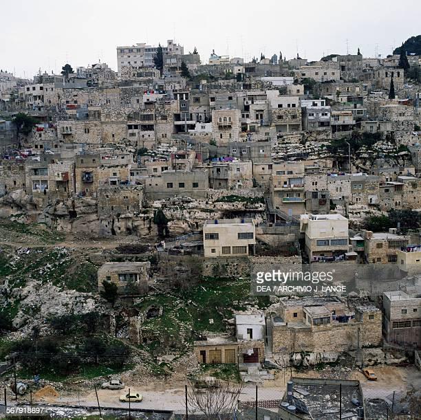 View of an Arab neighborhood in East Jerusalem Israel