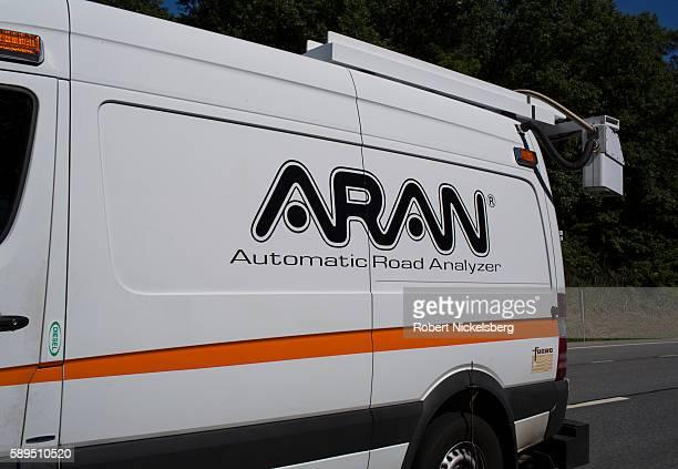 View of an ARAN van as it gathers infrastructure data along US Interstate 87 near Glens Falls New York August 3 2016