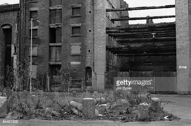 A view of an area of Liverpool which has since undergone major redevelopment circa 1990 in central Liverpool England Liverpool suffered extensive...