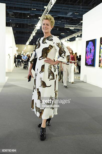 A view of an attendee wearing DolceGabbana at the Art Basel Miami Beach VIP preview on November 30 2016 in Miami Beach Florida