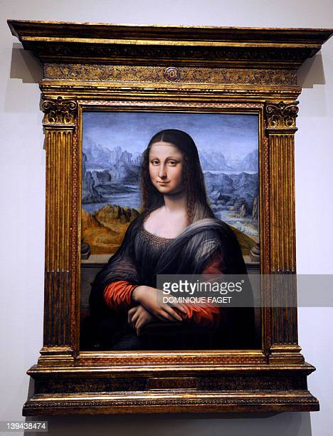 View of an authenticated of authenticated contemporary copy of Leonardo da Vinci's Mona Lisa presented at the Prado Museum in Madrid on February 21...