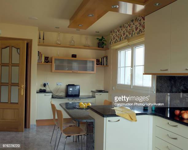 View of an eclectic kitchen