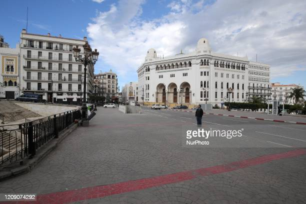 View of an empty street, following the outbreak of the coronavirus disease , in Algiers, Algeria Avril 02, 2020
