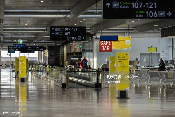 View of an empty Terminal 1 at Dublin Airport, during the coronavirus lockdown level 3. The pandemic has had a 'devastating' impact on the operator...