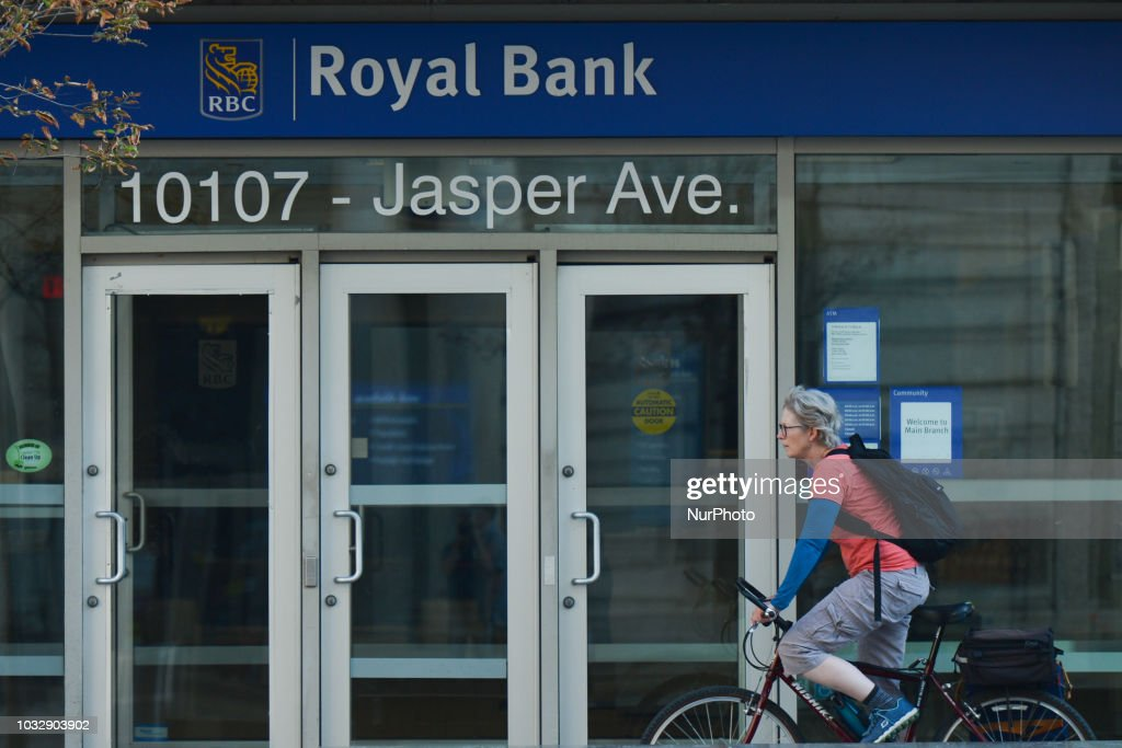 A view of an entrance to RBC office in Edmonton's downtown  On