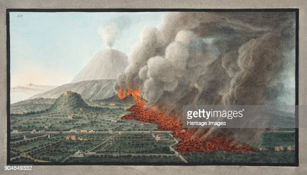 View of an eruption of Monte Vesuvius on 23rd December 1760 and ended 5th January 1761 Plate XII from 'Campi Phlegraei Observations on the Volcanoes...