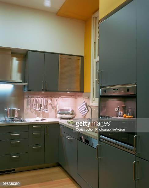 View of an illuminated kitchen