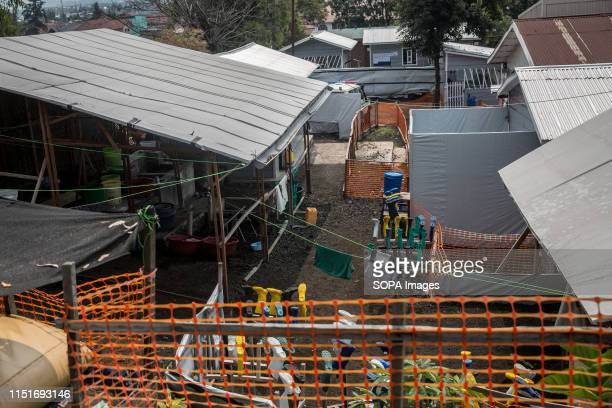 A view of an Isolation area at an Ebola treatment centre in Goma DR Congo is currently experiencing the second worst Ebola outbreak in recorded...