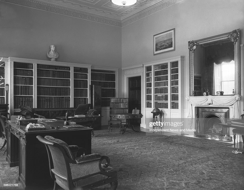 View of an office with a bureau at castle coole enniskillen