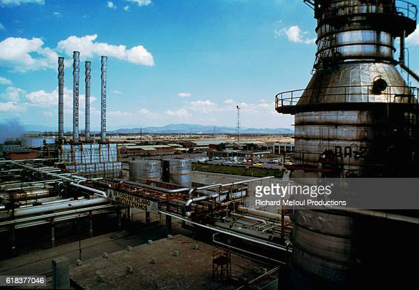 A view of an oil refinery in Chiapas State in Mexico