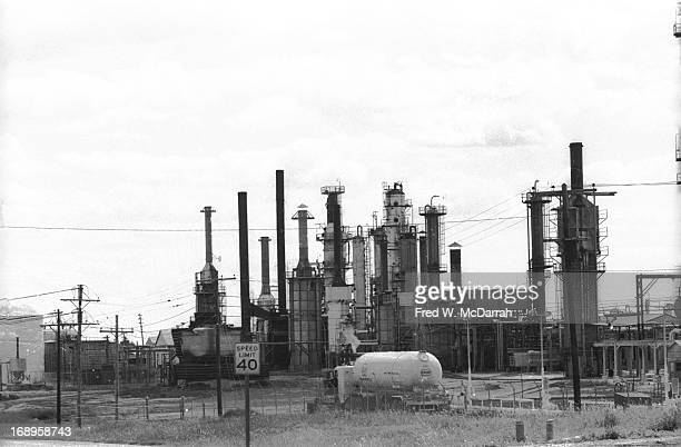 View of an oil refinery Phillipsburg Kansas August 26 1972