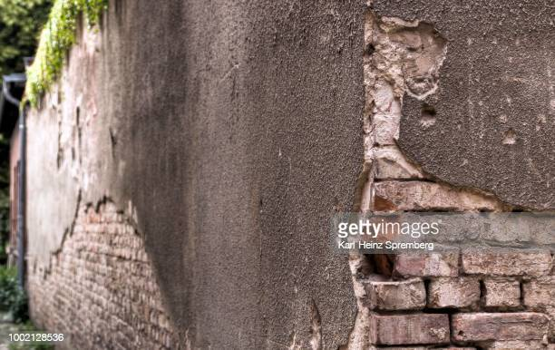 View of an old and dilapidated wall, Berlin, Germany